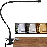 LED Lampe De Bureau à Pince, USB Alimenté Flexible Lampe De Lecture à Pince Pliable Réglable Lumière Douce Protection…
