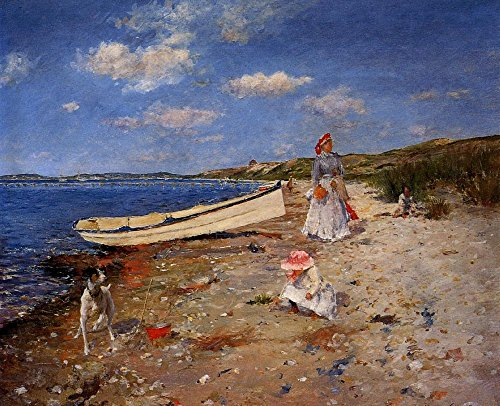 Das Museum Outlet-A Sunny Day at Shinnecock Bay 1892, gespannte Leinwand Galerie verpackt. 29,7x 41,9cm Shinnecock Bay