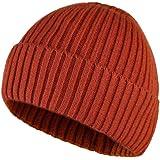WEKNOWU - Berretto invernale unisex, lavorato a maglia, cappello in stile vintage, morbido ed elastico, per uso quotidiano, d