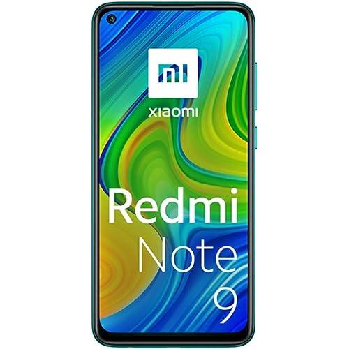 "Xiaomi Redmi Note 9 -Smartphone 6.53"" FHD+ DotDisplay (4GB RAM, 128GB ROM, Quad Camera , 5020mah Batteria, NFC) 2020 [Versione Italiana] - Colore Forest Green"