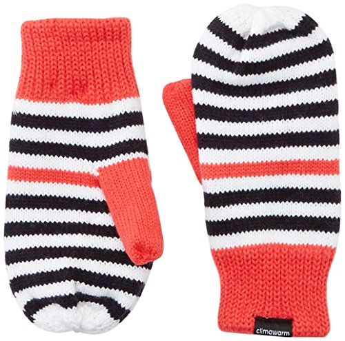 adidas Mädchen Striped Climawarm Handschuhe, Black/White/Joy/Ray Pink, M Preisvergleich