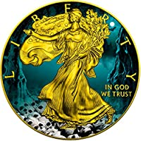 HALLOWEEN Walking Liberty 1 Oz Moneta Argento 1$ US Mint 2016 Monete (1 Oz Argento Bu Bu Coin)