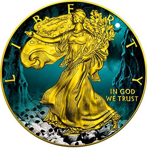 berty 1 Oz Silver Coin 1$ US Mint 2016 Münze (Halloween Uomo Idee)