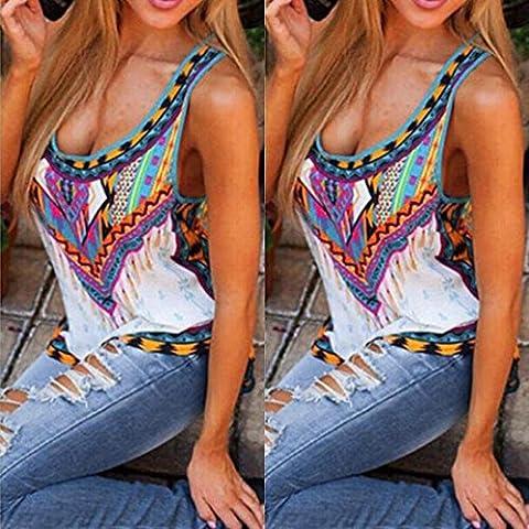 camisa de las mujeres, FEITONG camisa sin mangas del chaleco de la blusa de las tapas del tanque mujeres ocasionales del verano