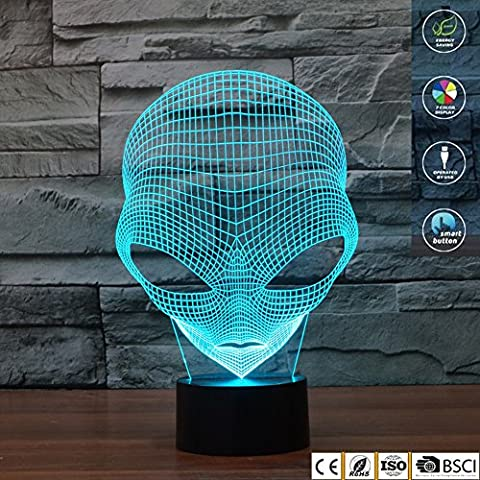 Illusion 3D jawell Lampe Veilleuse 7 couleurs changeantes Martien Touch USB Table joli cadeau Jouets Décorations - Camera Pull String