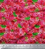 Soimoi Moss Georgette 44 Zoll breit Stoff rosa Erdbeere