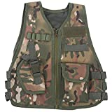 Children Kids camouflage Combat Games training gilet giacca Outdoor guardia di sicurezza gilet protettivo(L-CP-Camouflage)