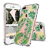 Coque iPhone 8 Plus, Coque iPhone 7 Plus, MOSNOVO Tropical Feuilles de palmier Clair...