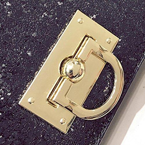 Coccodrillo Modello Spalla Borsa, Moda Donna Borsetta Spalla Borsa Messenger Grande Tote Leather Signore Borsa by Kangrunmy Nero