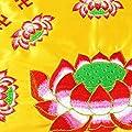Buddhistische Meditationskissen, Frideko Yogakissen mit Stickerei Lotosblume für Meditation Yoga