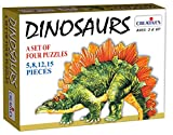 Creative Educational Aids 0715 Dinosaurs - 4 Puzzles (5 to 15 Piece)