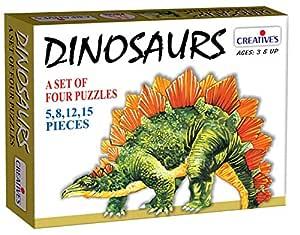 Creative Educational Aids P. Ltd. Dinosaurs Puzzle (Multi-Color, 40 Pieces)