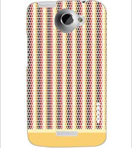 PrintDhaba Dot Pattern D-1474 Back Case Cover for HTC ONE X (Multi-Coloured)