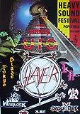 Heavy Sound Festival Poster Format 62 x 86 cm Original von 1985 Slayer Warlock Ufo Pretty Maids -