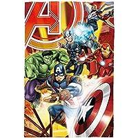 Marvel Avengers Zeichen Polar Fleece Decke, Polyester, mehrfarbig, Single