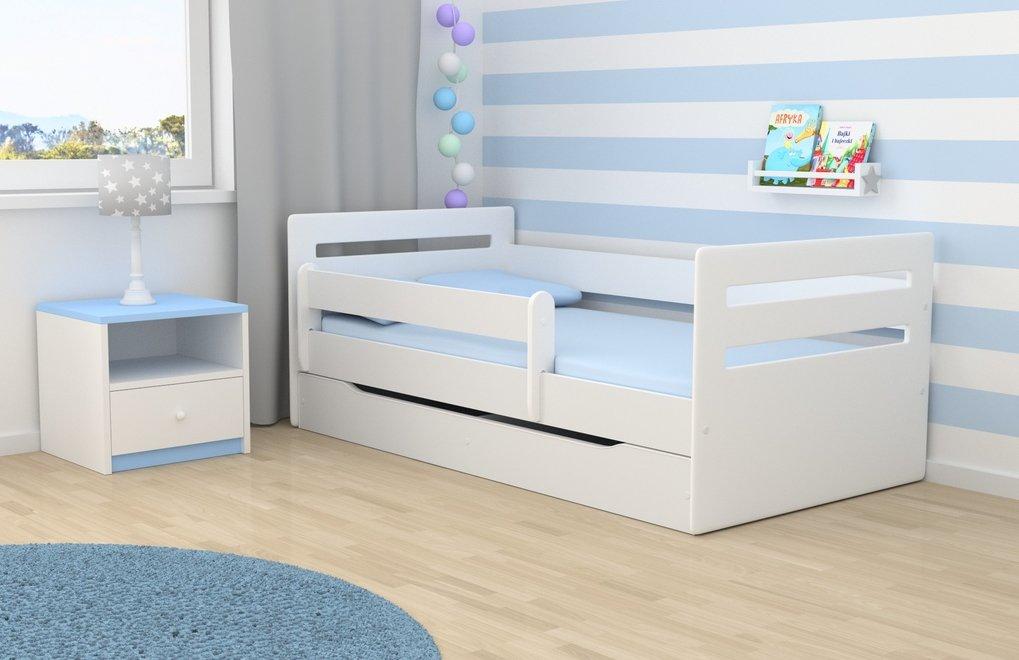 Wonderhome24 White Toddler Bed Kids Bed Junior Children's Single Bed - Tommy (White, 180x80)