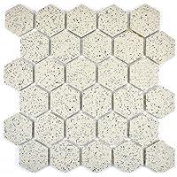 123mosaikfliesen Fliesen Mosaik K/üche Bad WC Wohnbereich Fliesenspiegel Keramik Kiesel gesprenkelt 6 mm gl/änzend Neu #514