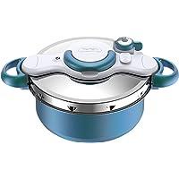 SEB ClipsoMinut'® DUO 5L Cocotte-minute® Bleu Boréal Revêtement antiadhésif Tous feux dont induction Autocuiseur…