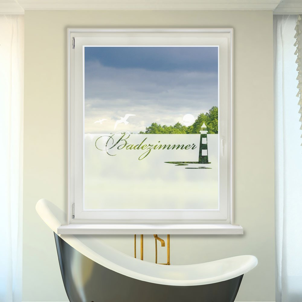 Badezimmer Fensterfolie - Design