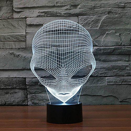 HuntGold ?Einzigartiger 3D-Form Pop-eyed Alien LED Lampe mit USB-Stromversorgung Laden Weihnachtsgeschenk