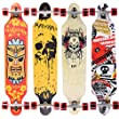 [Maronad.GCP]® Longboard Skateboard drop through Race Cruiser ABEC-11 Skateboard 104x24cm Streetsurfer skaten SAT