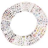 60 Feuilles Autocollants Scrapbooking,Autocollant D'album Photo de Bricolage, Autocollants Décoratifs Auto-Adhésifs pour Scra