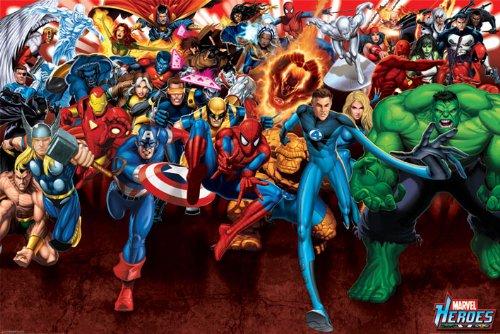 Marvel Comics Drucken, Mehrfarbig, 61 x 91.5cm