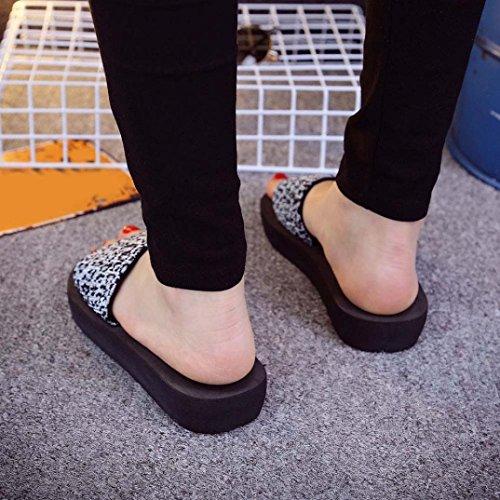 Fulltime® Chaussures Femme Sandales dété Slipper intérieure et extérieure Blanc