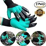 Gartenhandschuhe mit Klauen(2 Paar),Garten Handschuhe mit Grabkralle Garten Handschuhe mit Graben Klauen Garten Gloves Gartenhandschuhe