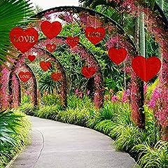 Idea Regalo - TUPARKA 25 PCS Decorazioni per Il Prato di San Valentino, Cuori Pendenti per la Decorazione di San Valentino Decorazione per Matrimoni e Feste, Formato Misto