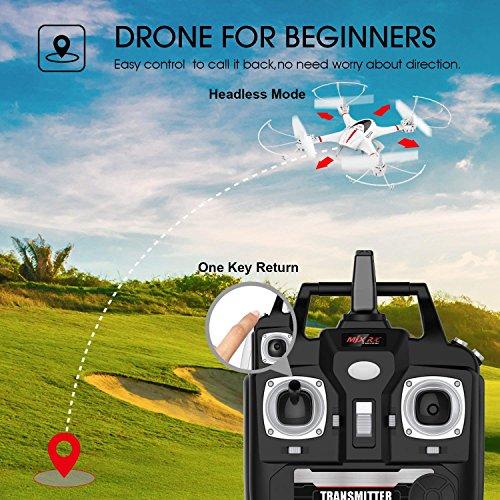 DBPOWER MJX X400W FPV Drohne mit WLAN Kamera Zurückkehrfunktion, Quadcopter mit Kopflosmodus für Kinder und Anfänger - 6