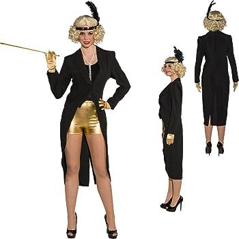 S Veste Femme De Frac Queue Pans Showgirl 3638 Amakando À Pie Noir aw1qZ0
