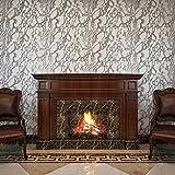 HANMERO® Papel pintado autoadhesivo imitación ladrillo piedras para muebles vinilos pegatinas de pared para Cocina / mesa/ escritorio / puerta/armario, color blanco