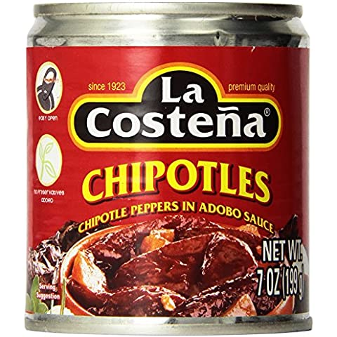 La Costena Chipotle Peppers in ADOBO Sauce 199g 7oz 1 pack - La Costena Chipotle