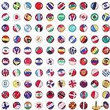 100 Stücke Kreative Push Pins National Flagge Reiß Nagel Land Karte Push Pins für Schwarzes Brett, Karte, Büro