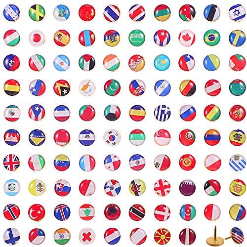 Chinchetas Bandera Nacional Tachuelas Países