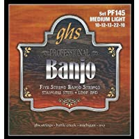 GHS PF145 5 Juego de cuerdas para Banjo Medium Light