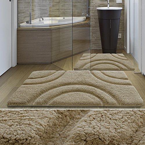tappeto-da-bagno-casa-purar-linea-luxury-vesta-beige-spessore-extra-alto-60x100-cm