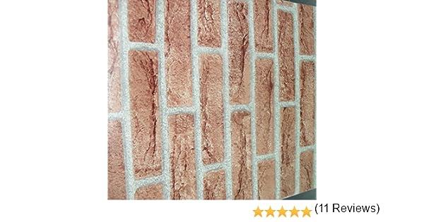 Plastica adesiva effetto finto mattone muro rivestimento cucina