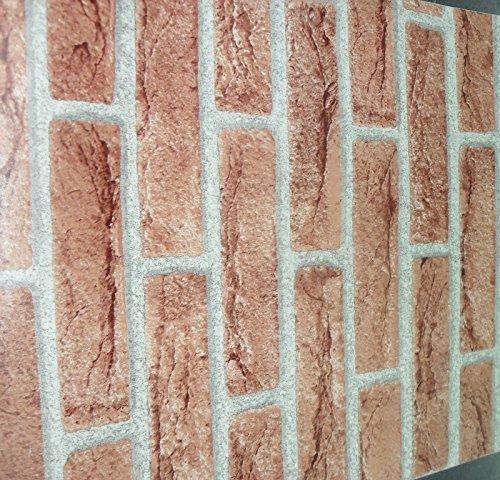 Plastica adesiva effetto finto mattone muro rivestimento cucina mis.45x15mt