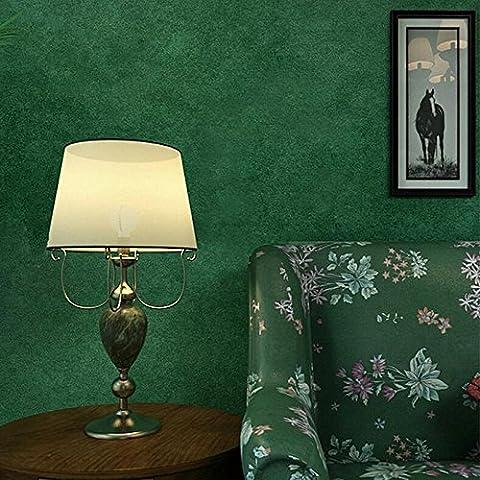 ANNDEEW peinture murale Papier peint intissé vert foncé chambre salon vintage couleur unie chiné fond fond d'écran wallpaper