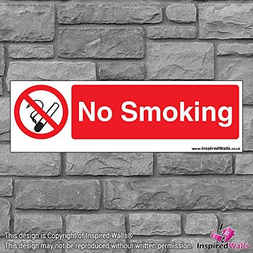 2x No Smoking 3?Gesundheit & Sicherheit Warnung Verbot Schild Aufkleber -