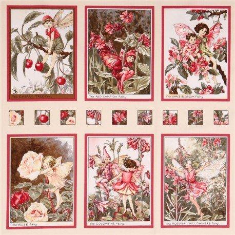 Blossom Fairies Panel Fee Märchen Stoff Michael Miller