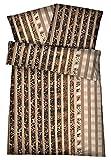 Carpe Sonno Super softe Interlock Jersey Bettwäsche Tierfell-Muster - Bettbezug aus gekämmter Baumwolle - Bügelfreie Bettbezüge - Bettzeug 135 x 200 cm - Braun