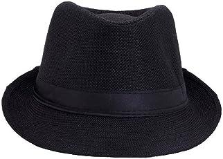 Glamio Men's Fedora Hat (Black)