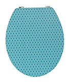 Wirquin 20721907–Copri WC Trendy Line Diplomat Malmo, Blu e bambù