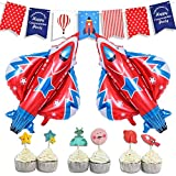 KREATWOW Luck Collection Raum-Party-Dekoration, Raketen-Motiv, Babyparty, Geburtstag Party Supplies