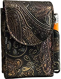 Portasigarette, porta pacchetto sigarette con porta accendino, Vera Pelle - Etabeta Artigiano Toscano - Made in Italy