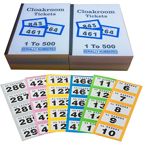 10-books-of-1-500-cloakroom-raffle-tombola-tickets-10-different-colours