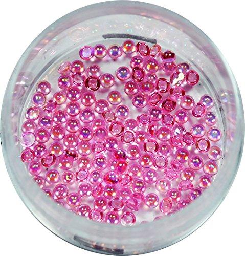 RM Beautynails moitié rose 1,2 mm Perles Rond Strass Paillettes env. 50 pièces pour Nail Art et Manucure Design